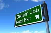 wegwijzer met de tekst dream job next exit